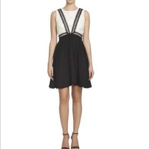 CeCe by Cynthia Steffe Lace Colorblock Dress